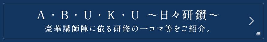 a・bu・ku ~日々研鑽~ 豪華講師陣に依る研修の一コマ等をご紹介。